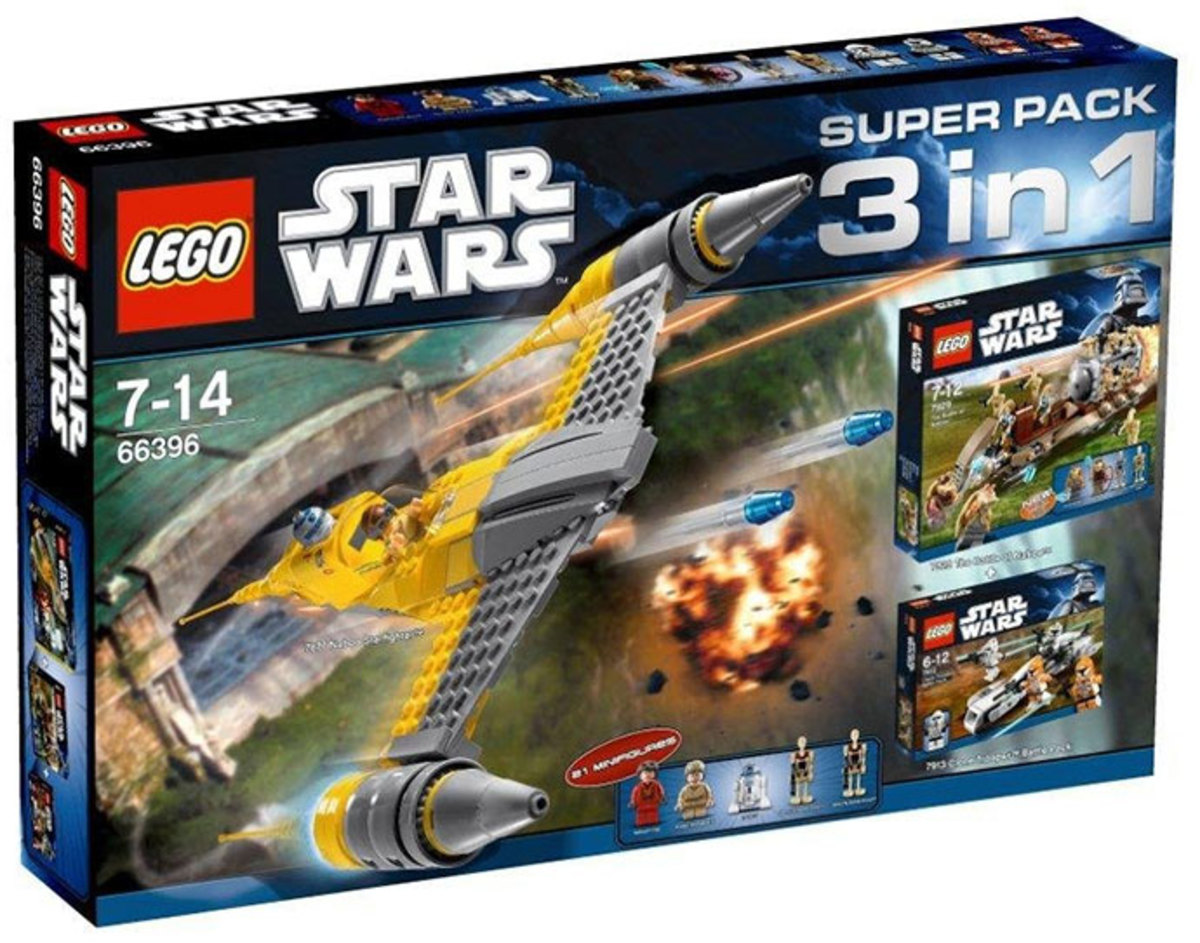 LEGO Star Wars 3 in 1 Super Pack # 66396 Box