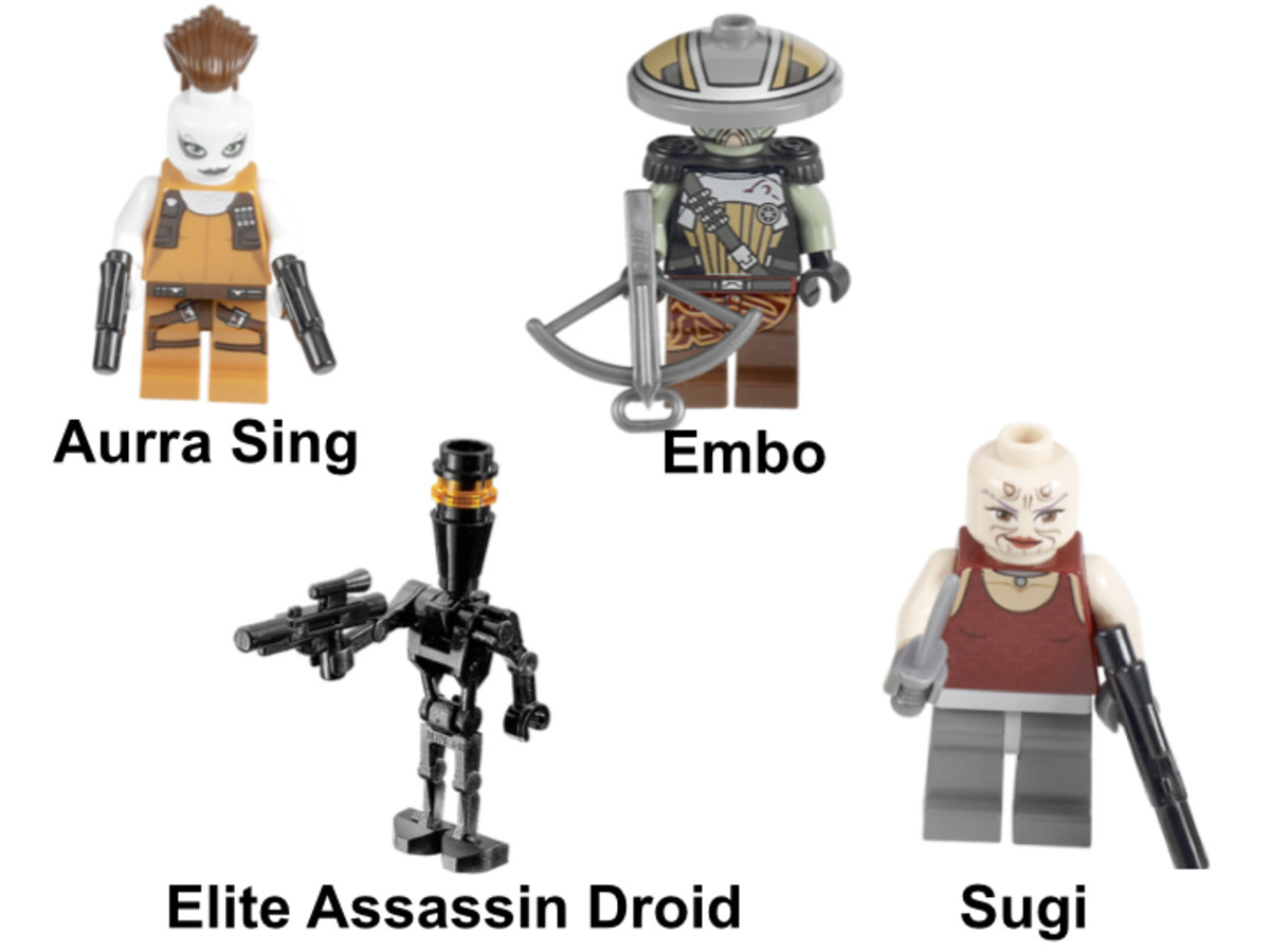LEGO Star Wars Bounty Hunter Assault Gunship 7930 Minifigures
