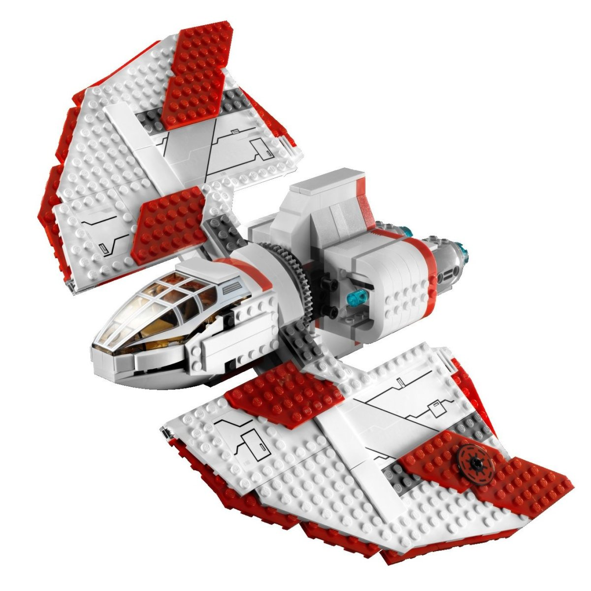 LEGO Star Wars T-6 Jedi Shuttle 7931 Assembled