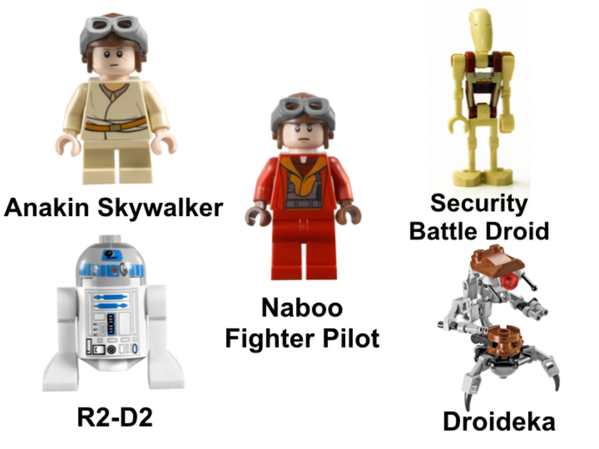 LEGO Star Wars Naboo Starfighter 7877 Minifigures