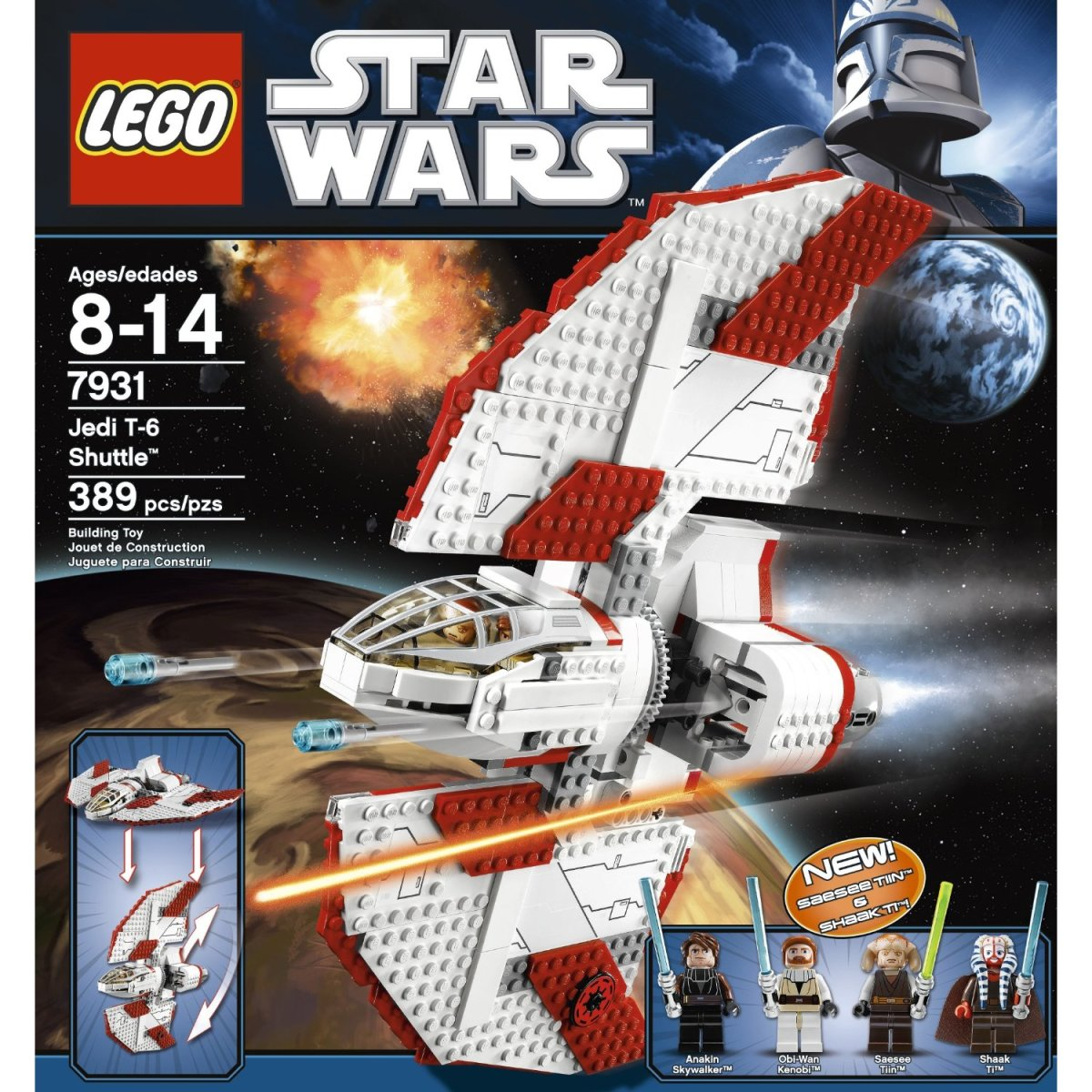 LEGO Star Wars T-6 Jedi Shuttle 7931 Box