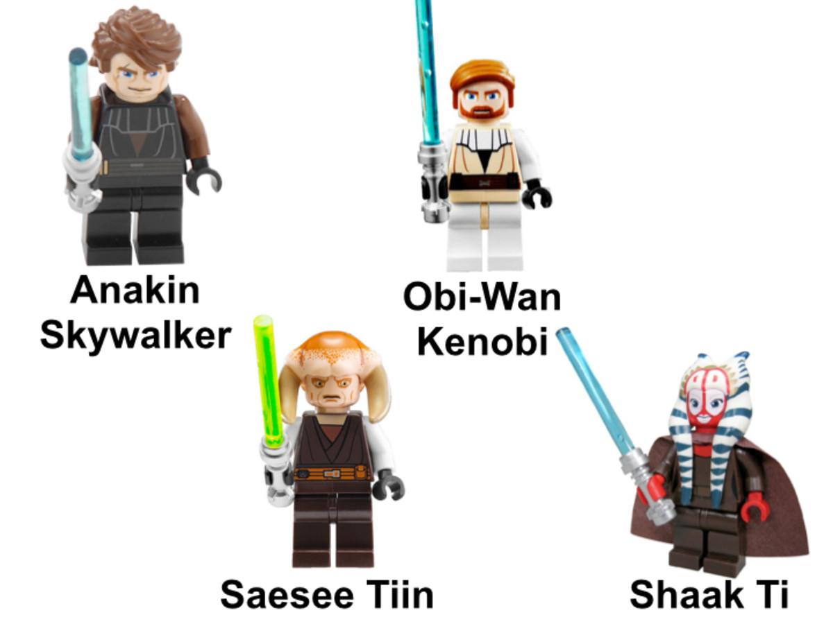 LEGO Star Wars T-6 Jedi Shuttle 7931 Minifigures