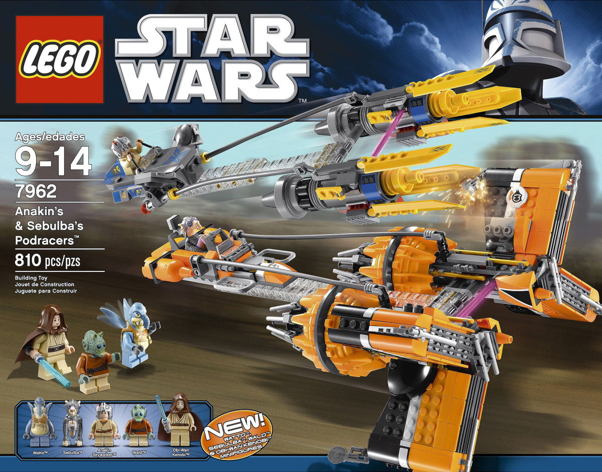 LEGO Star Wars Anakin Skywalker and Sebulba's Podracers 7962 Box