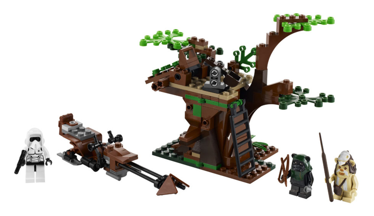 LEGO Star Wars Ewok Attack 7956 Assembled