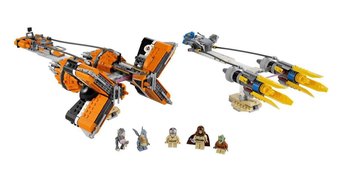 LEGO Star Wars Anakin Skywalker and Sebulba's Podracers 7962 Assembled