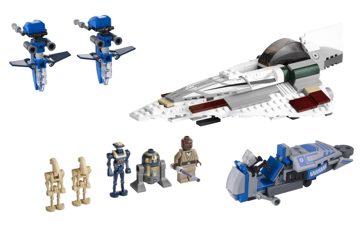 LEGO Star Wars Mace Windu's Jedi Fighter 7868 Assembled