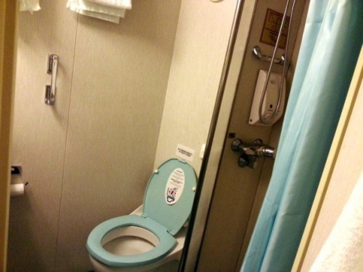 Toilet in our cabin on Superstar Libra