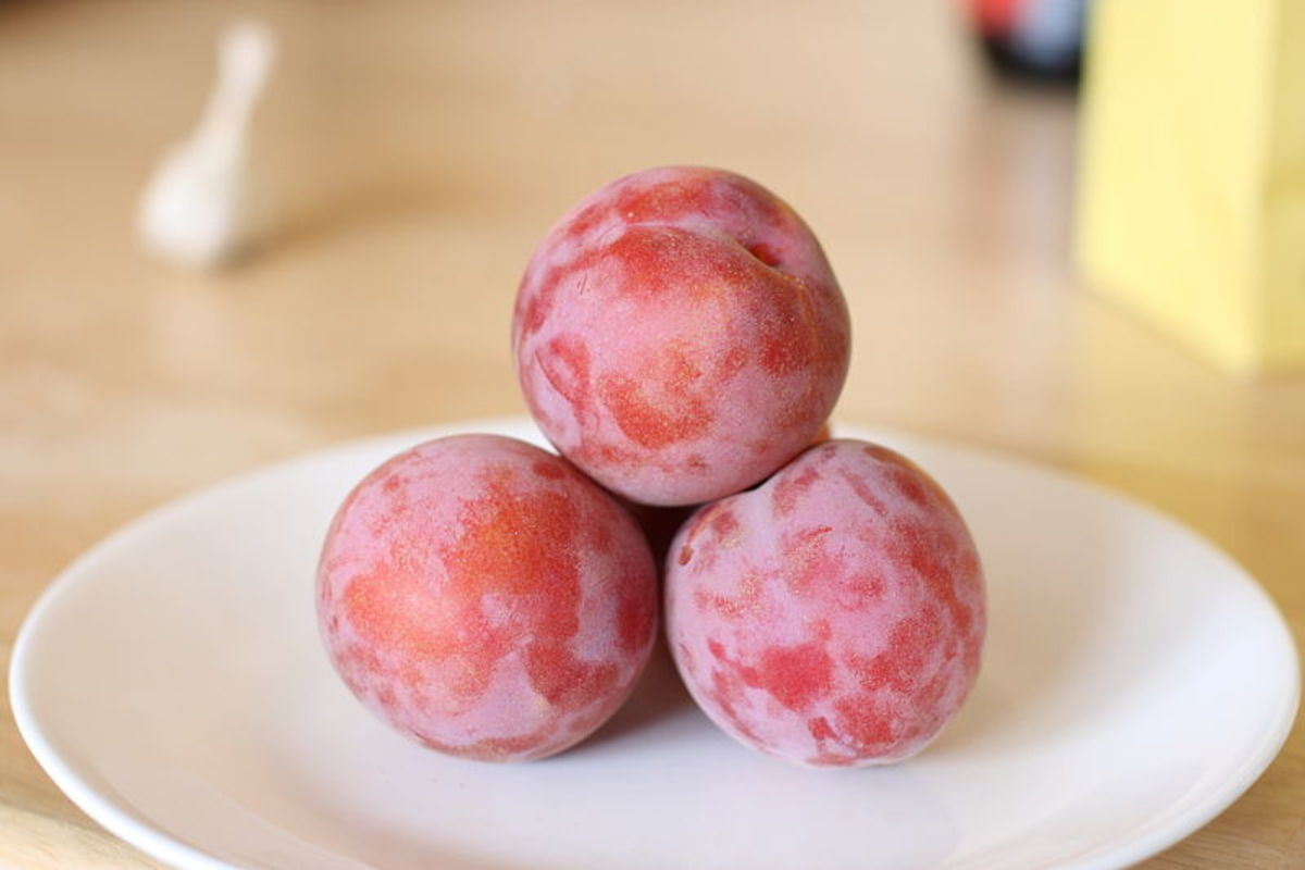 A peacotum is a peach/apricot/plum hybrid, said to taste similar to fruit punch, trademarked by Zaiger's Genetics, a company that develops novel fruit through deliberate hybridization.