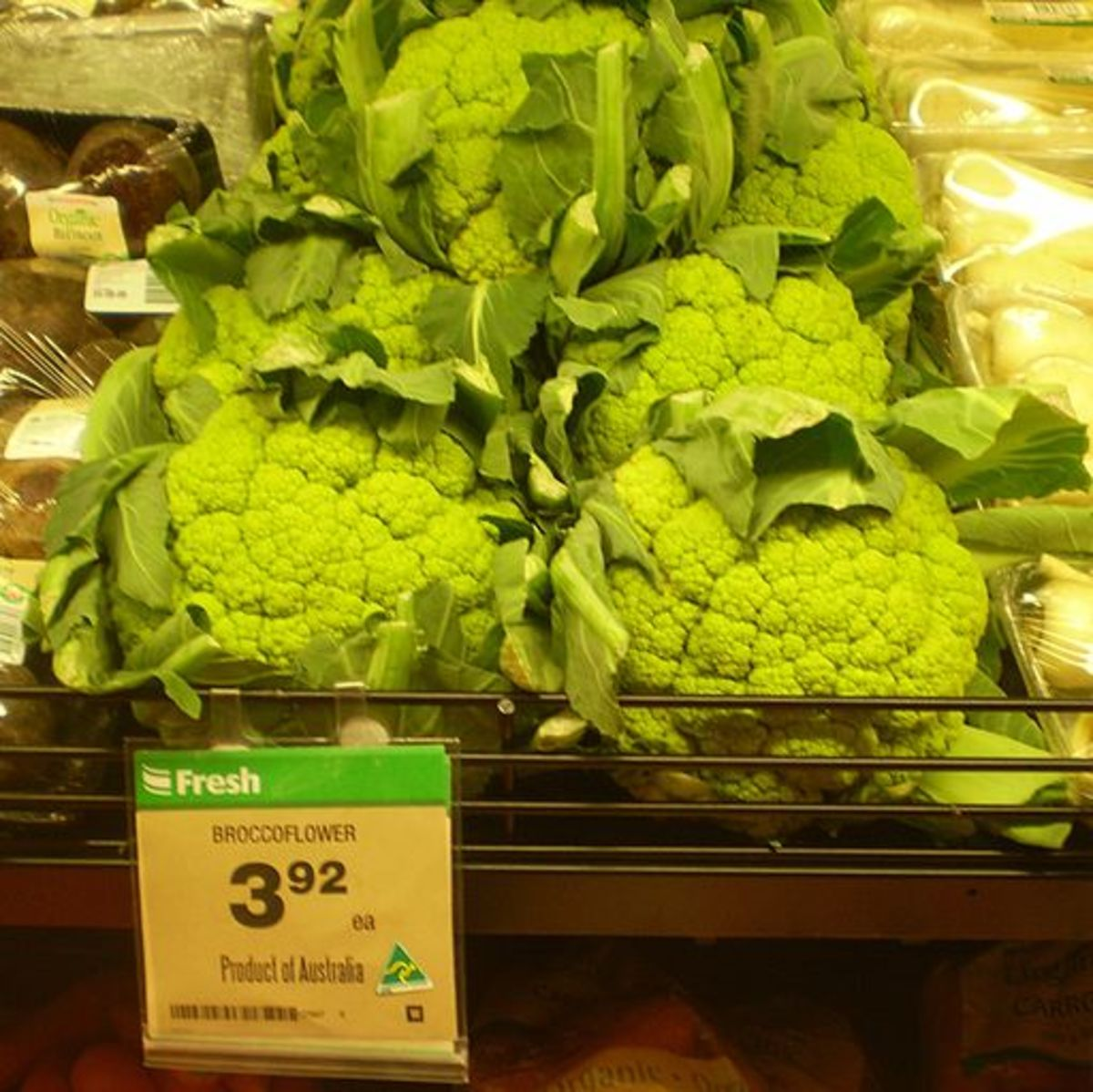 Broccoflower in Australian supermarket