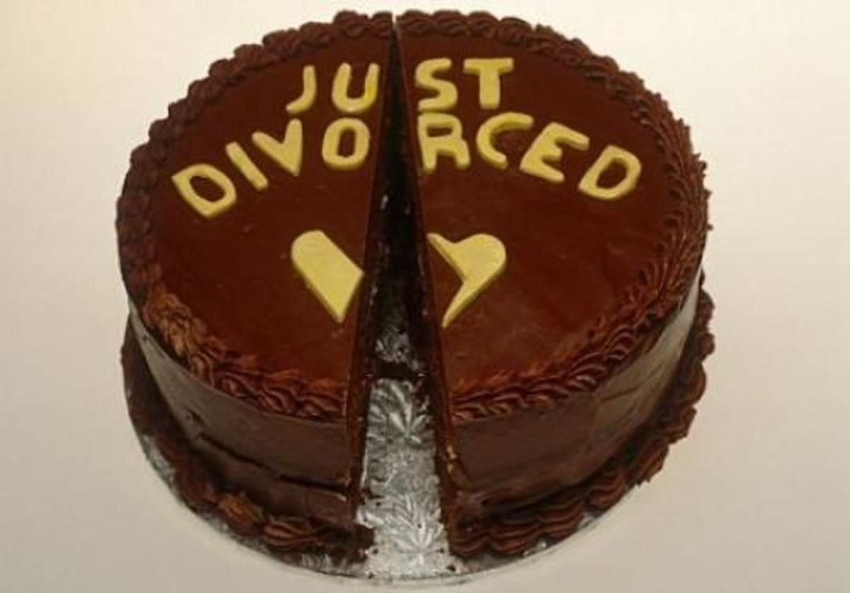 The Just Divorced Cake