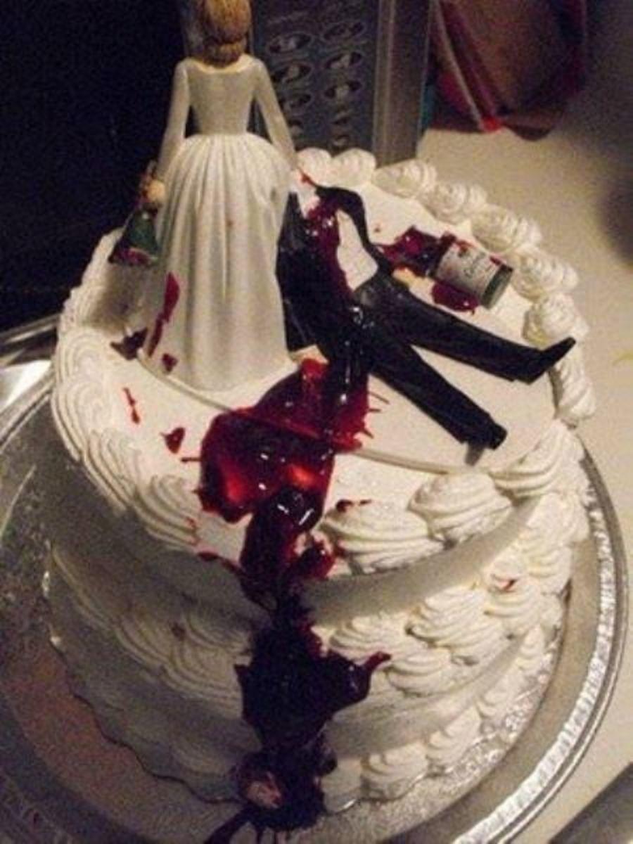 Divorce Cake with Beheaded Groom