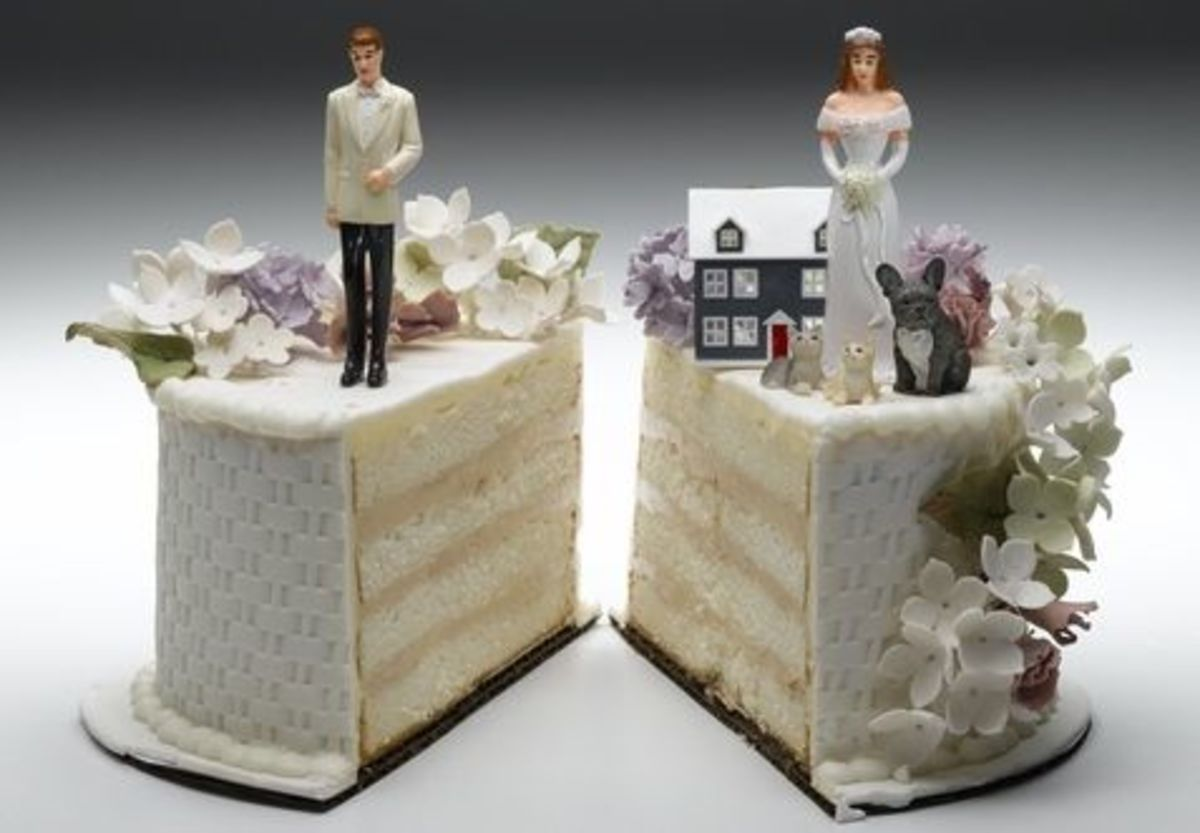 The Property Settlement Divorce Cake