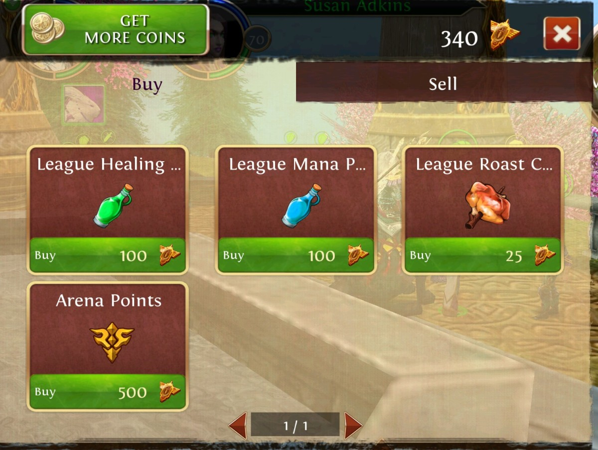 The Arena Point token costs 500 Honor Points. OAC online PvP.