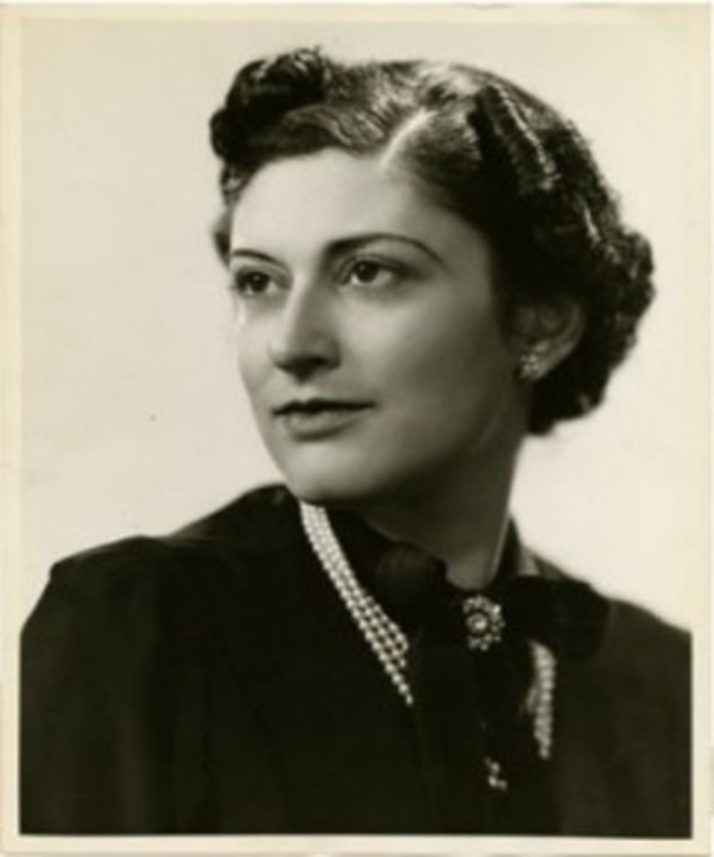 Marcia Davenport, Alma Gluck's daughter from first marriage. Circa 1960