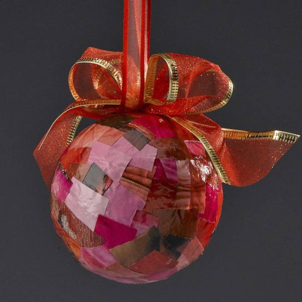 Magazine Collage Ornament