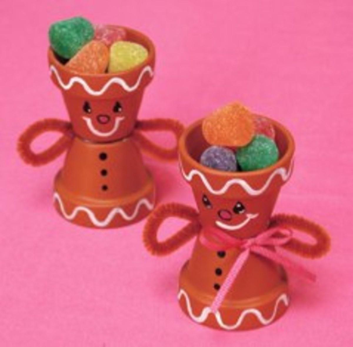 Flower Pot Gingerbread Men