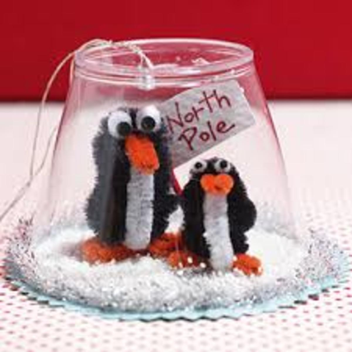 Penguins Snow globe Ornament