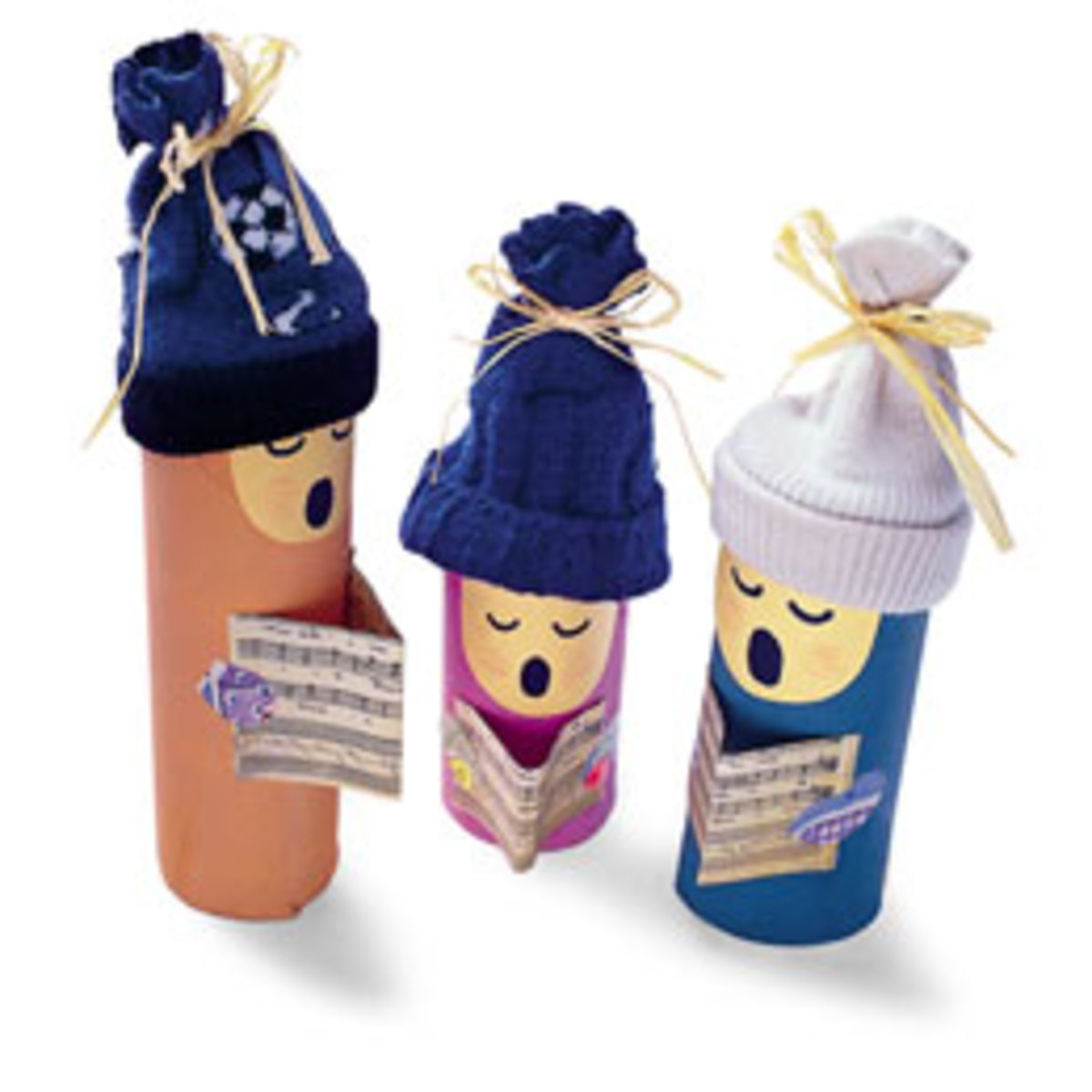 Toilet Paper Tube Carolers
