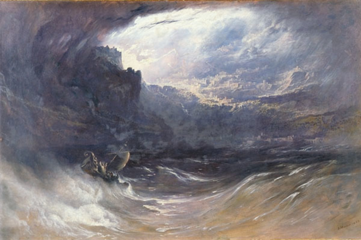 The Deluge by John Martin, 1834