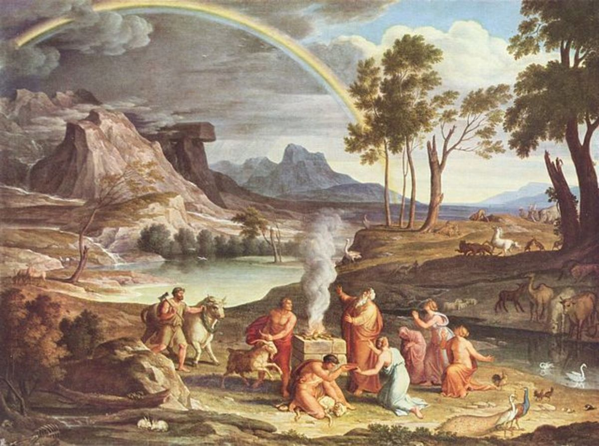 Landscape with Noah's Thank Offering (painting circa 1803 by Joseph Anton Koch)