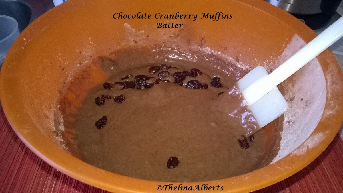 Chocolate Cranberry Muffins batter.