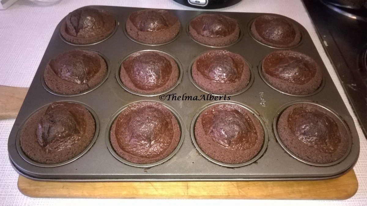Fresh baked chocolate cranberry muffins. I have baked today February 9, 2015 extra for my step by step photos.