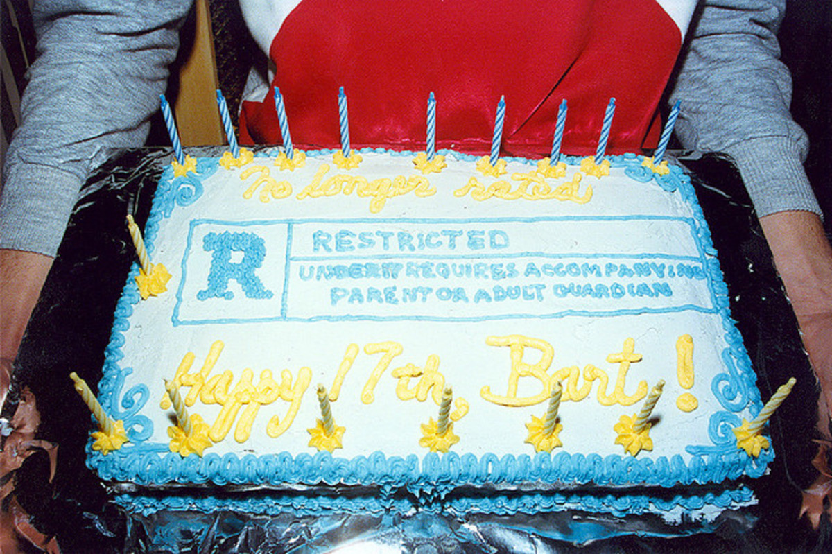 The moving rating system expressed in a cake as Rated-R