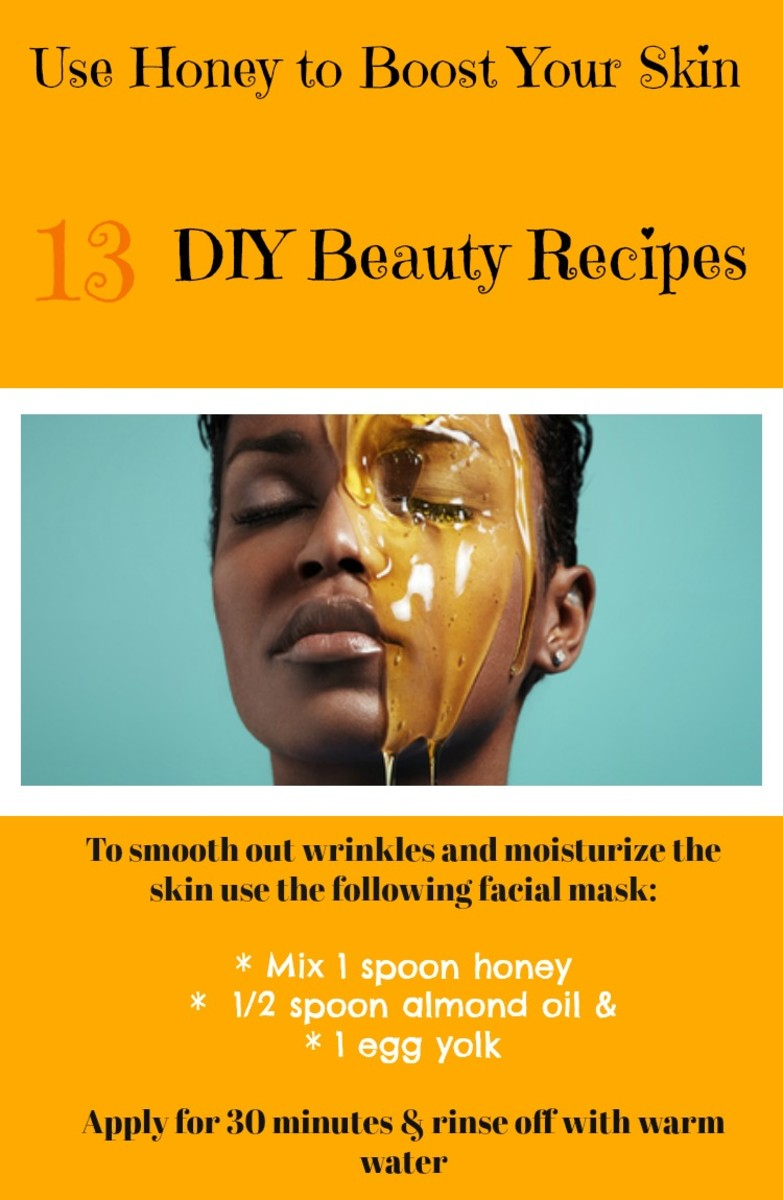 Use natural skin care recipes with honey to moisturize the skin and smooth out wrinkles