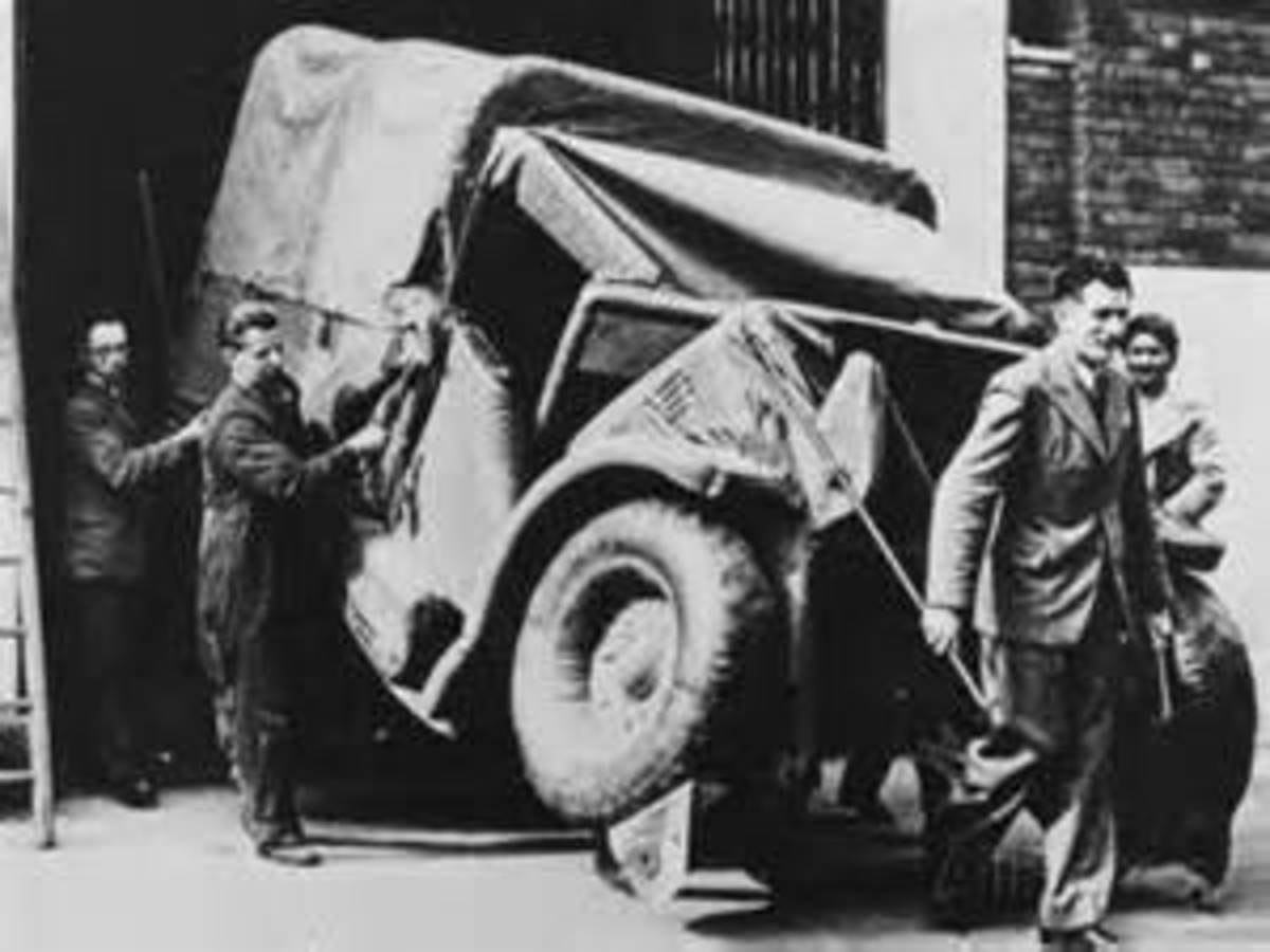 Another dummy truck being easily carried