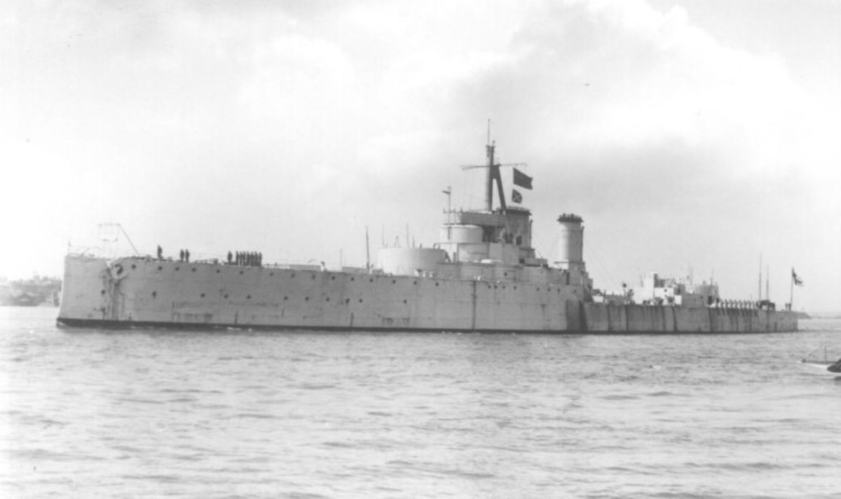 HMS Centurion as a target ship