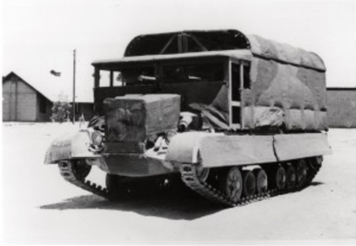 Tank disguised as a truck