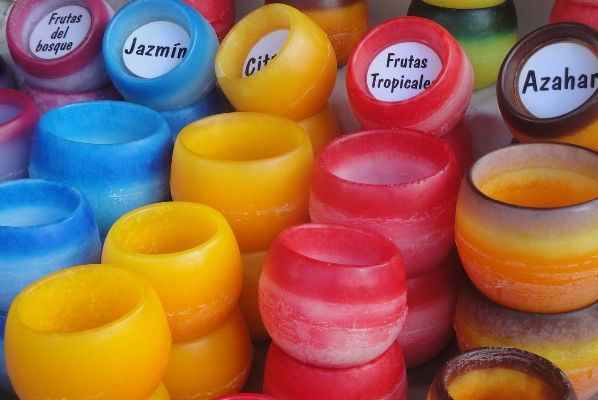Assortment of candle scents
