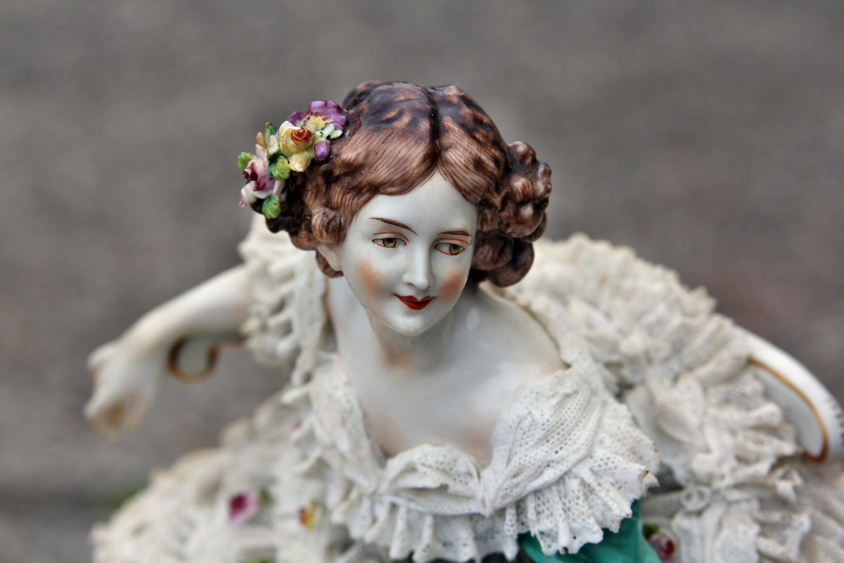 A porcelain baroque doll.