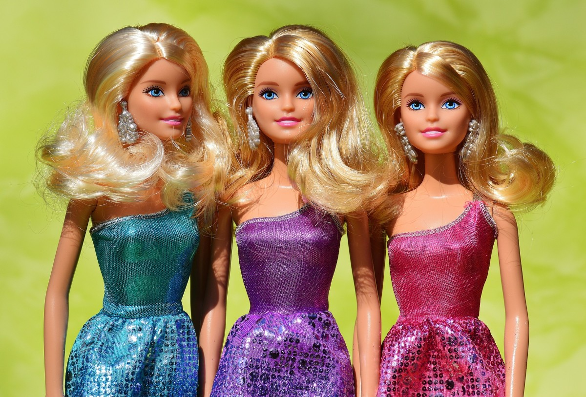 Barbie dolls are popular fashion dolls for young girls in America.