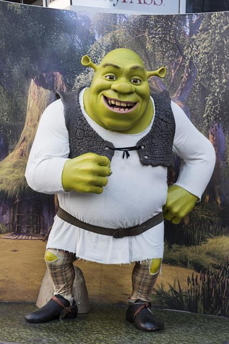 Figure Of Character Shrek At Madame Tussauds in Los Angeles