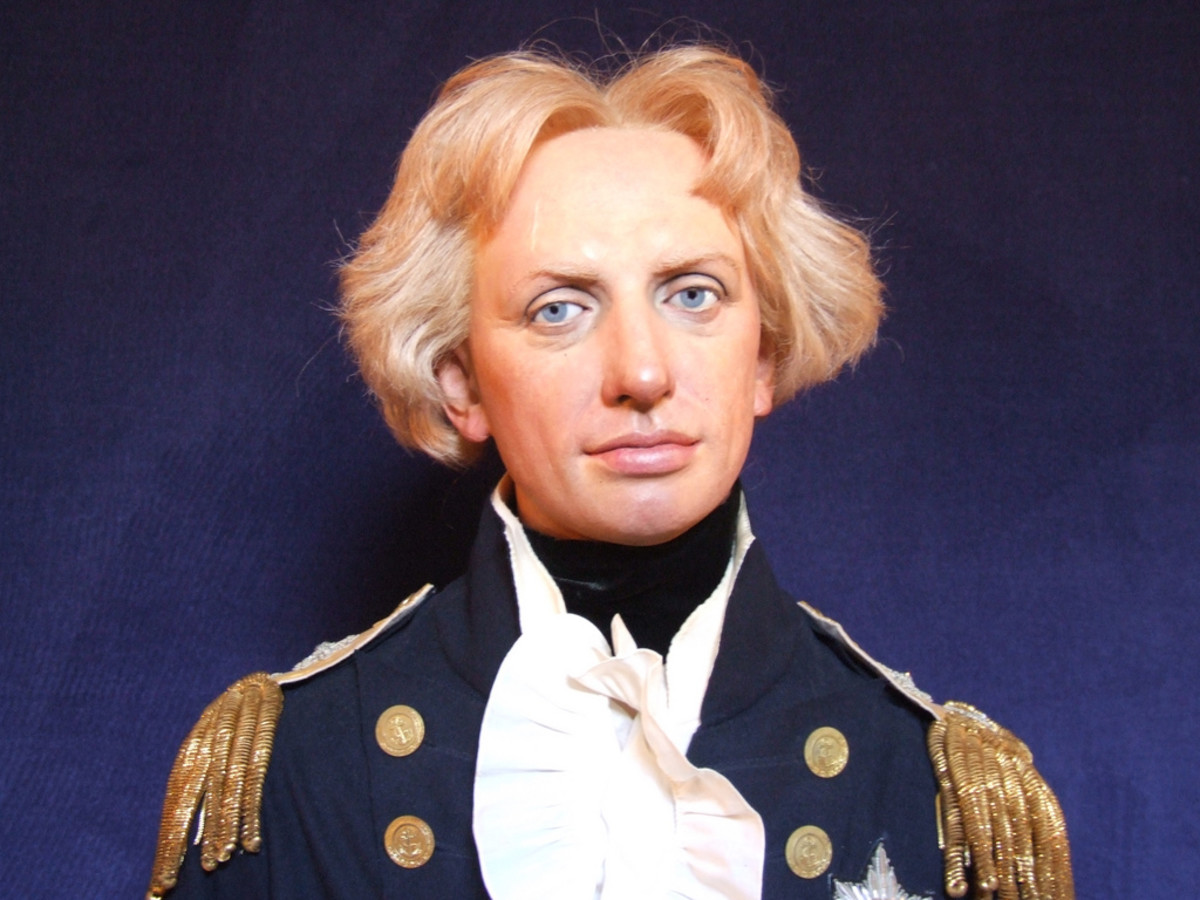 Lord Nelson Wax Figure