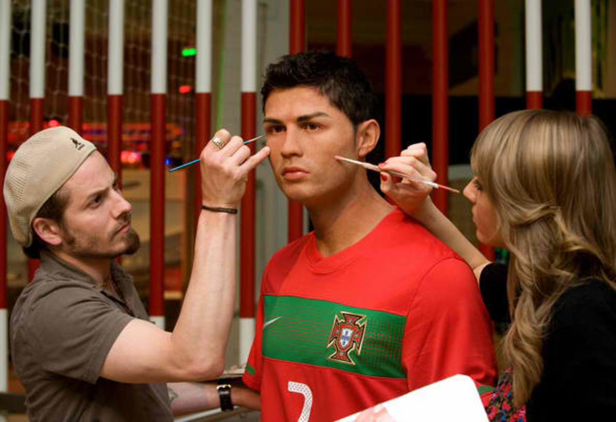 Wax Figure At Madame Tussauds Getting Makeup