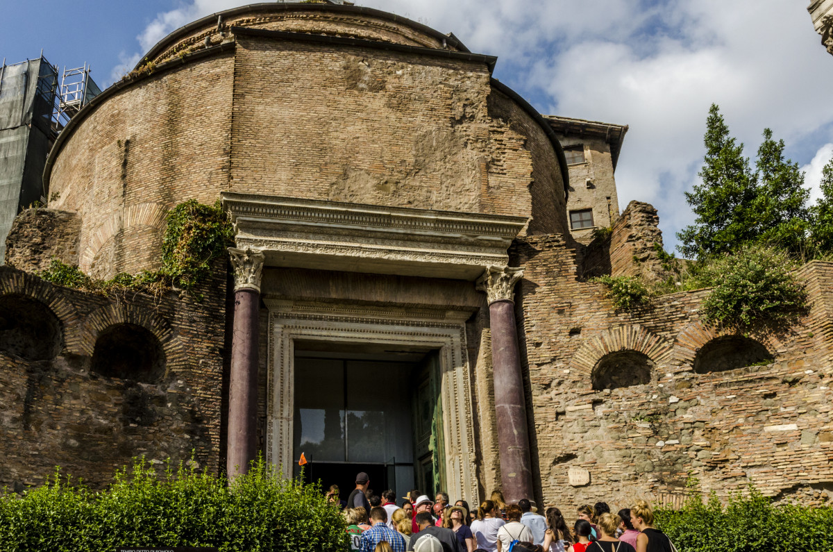 The Temple of Romulus in the Roman Forum