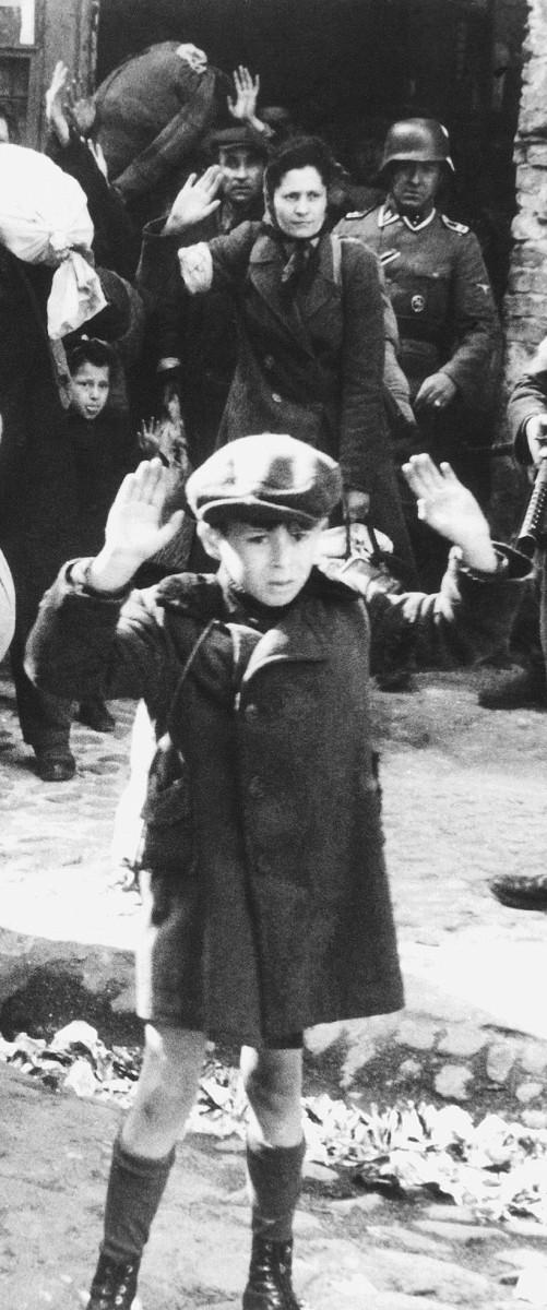Jewish boy arrested by Nazis