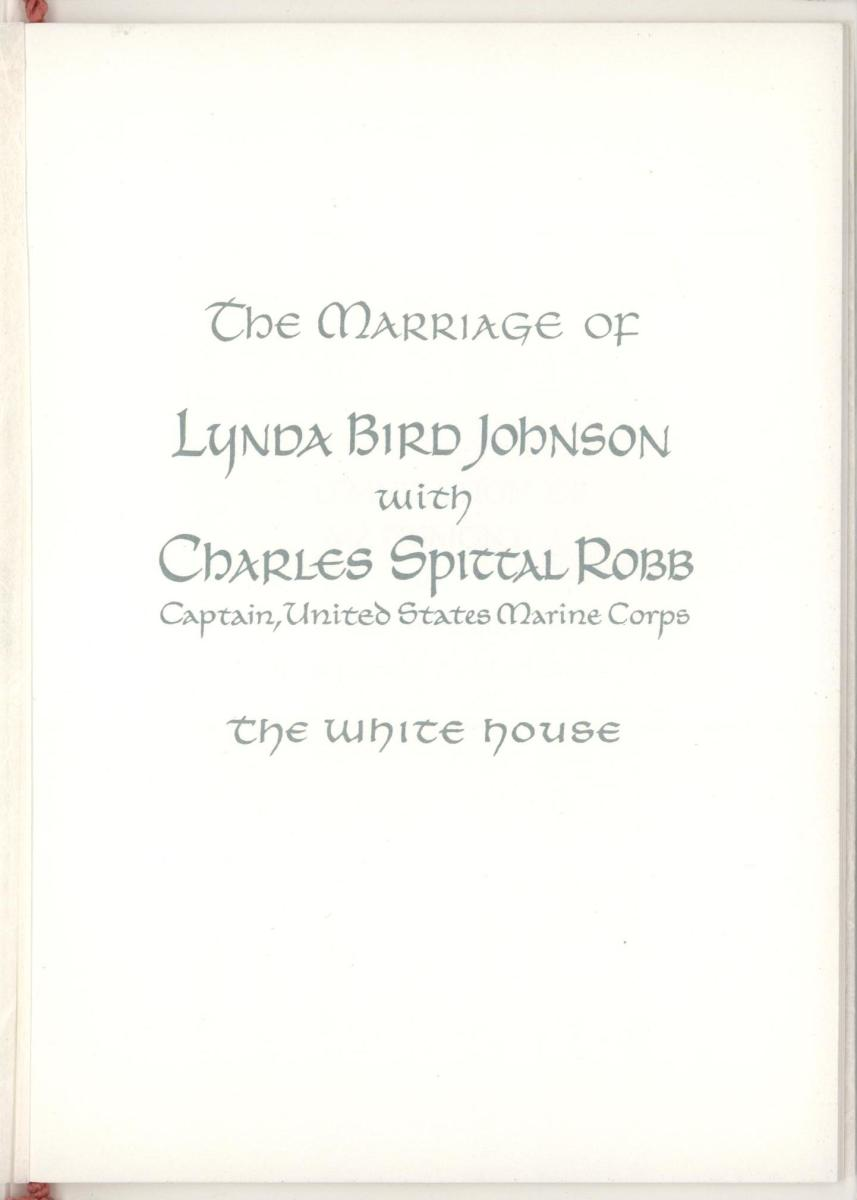 Wedding Program, 9 December 1967