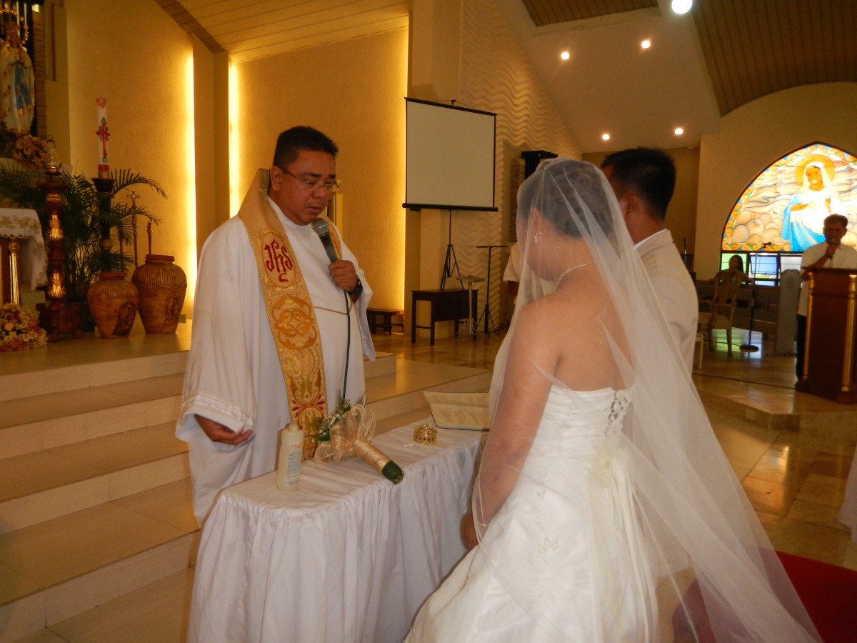 Our Lady Lourdes Church Wedding Angeles Pampanga