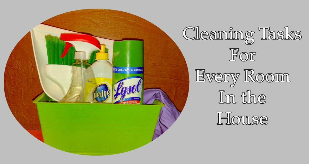 You will need your favorite cleaners and tools for fall cleaning.