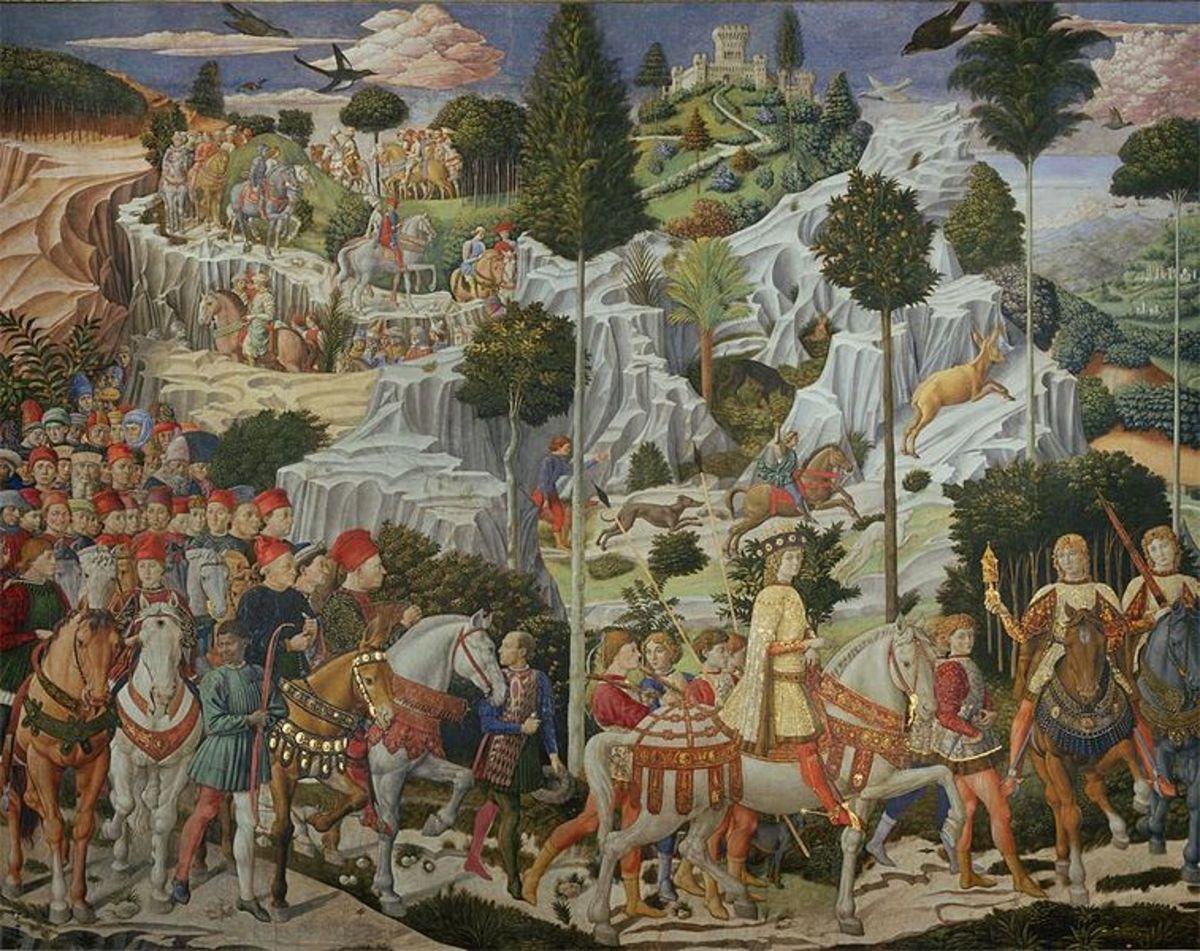 Benozzo Gozzoli, Journey of the Magi (1459-1562), Florence Cappella dei Magi Palazzo Medici Riccardi