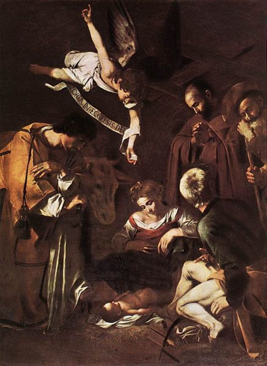 Caravaggio, Nativity with St. Francis and  St. Lawrence (1600 - 1609), Stolen