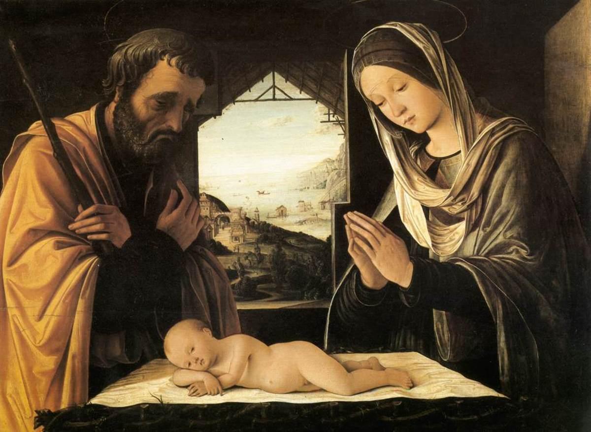 Lorenzo Costa, Nativity (a. 1490), Lyon Musée des Beaux Arts