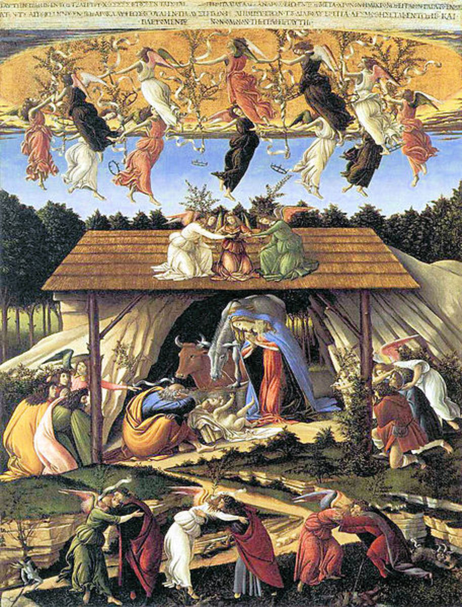 Sandro Botticelli, The Mystic Nativity (1501), London National Gallery