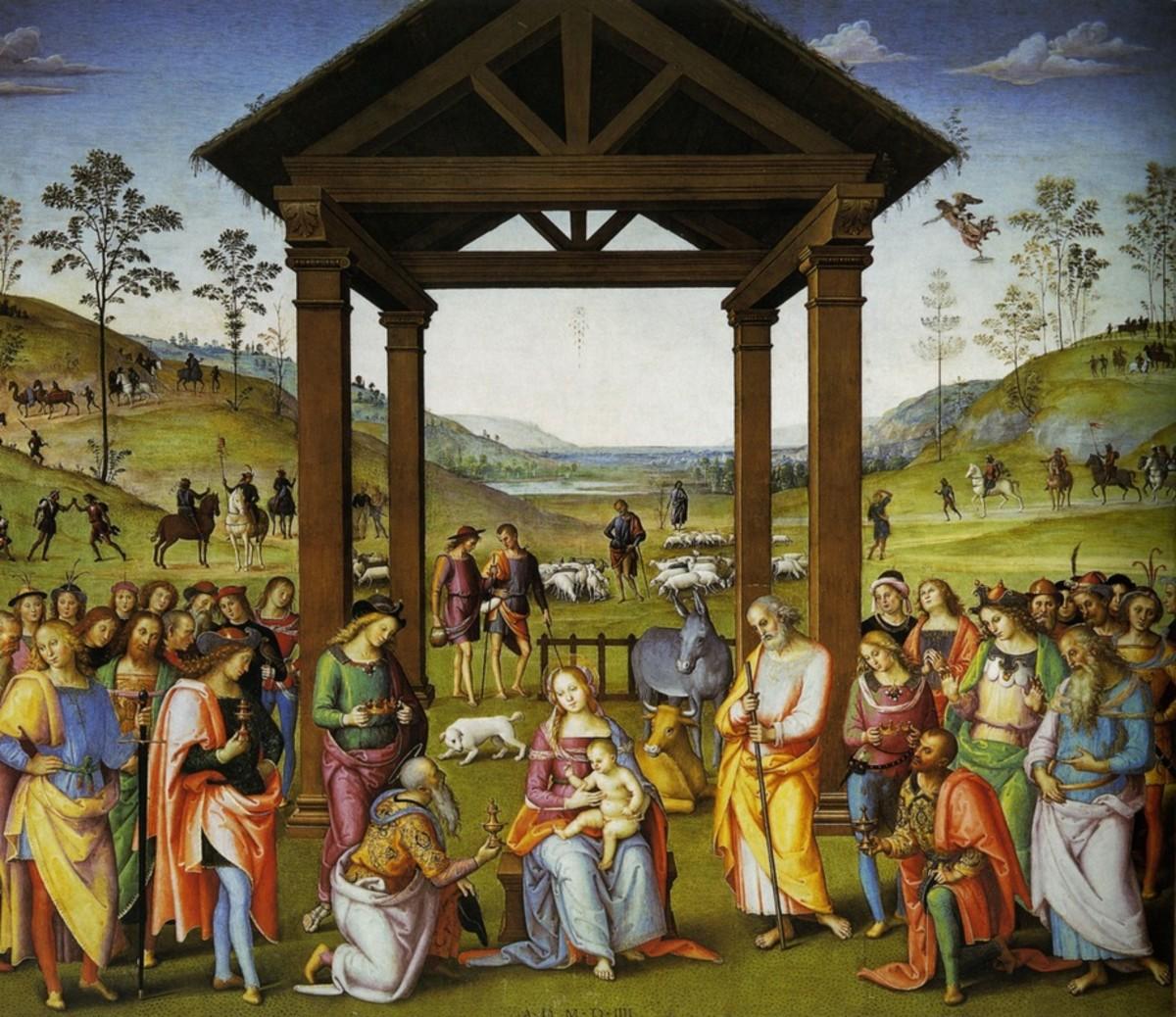 Pietro Perugino, Adoration of the Magi (1504), Città della Pieve Oratorio di Santa Maria dei Bianchi