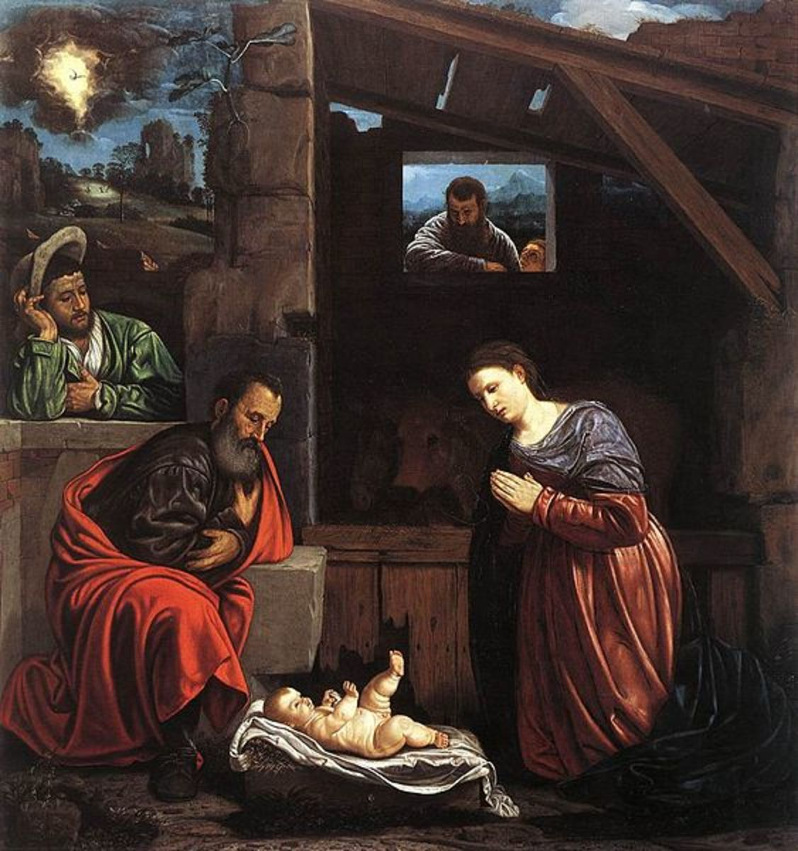 Savoldo, Adoration of the Shepherds (a. 1540), Brescia Pinacoteca Tosio Martinengo