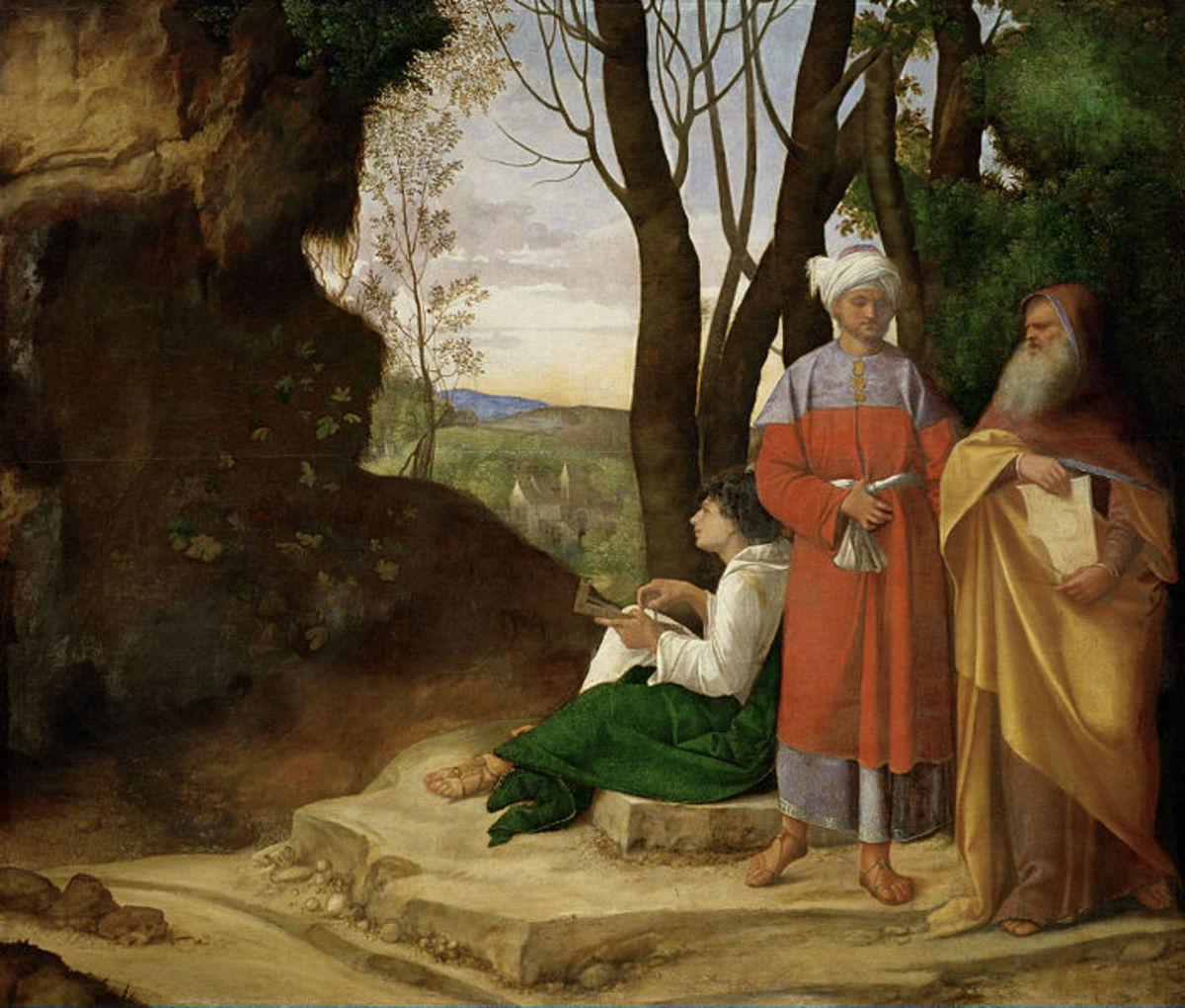 Giorgione, Three Philosophers (1506-1508), Wien Kunsthistorisches Museum