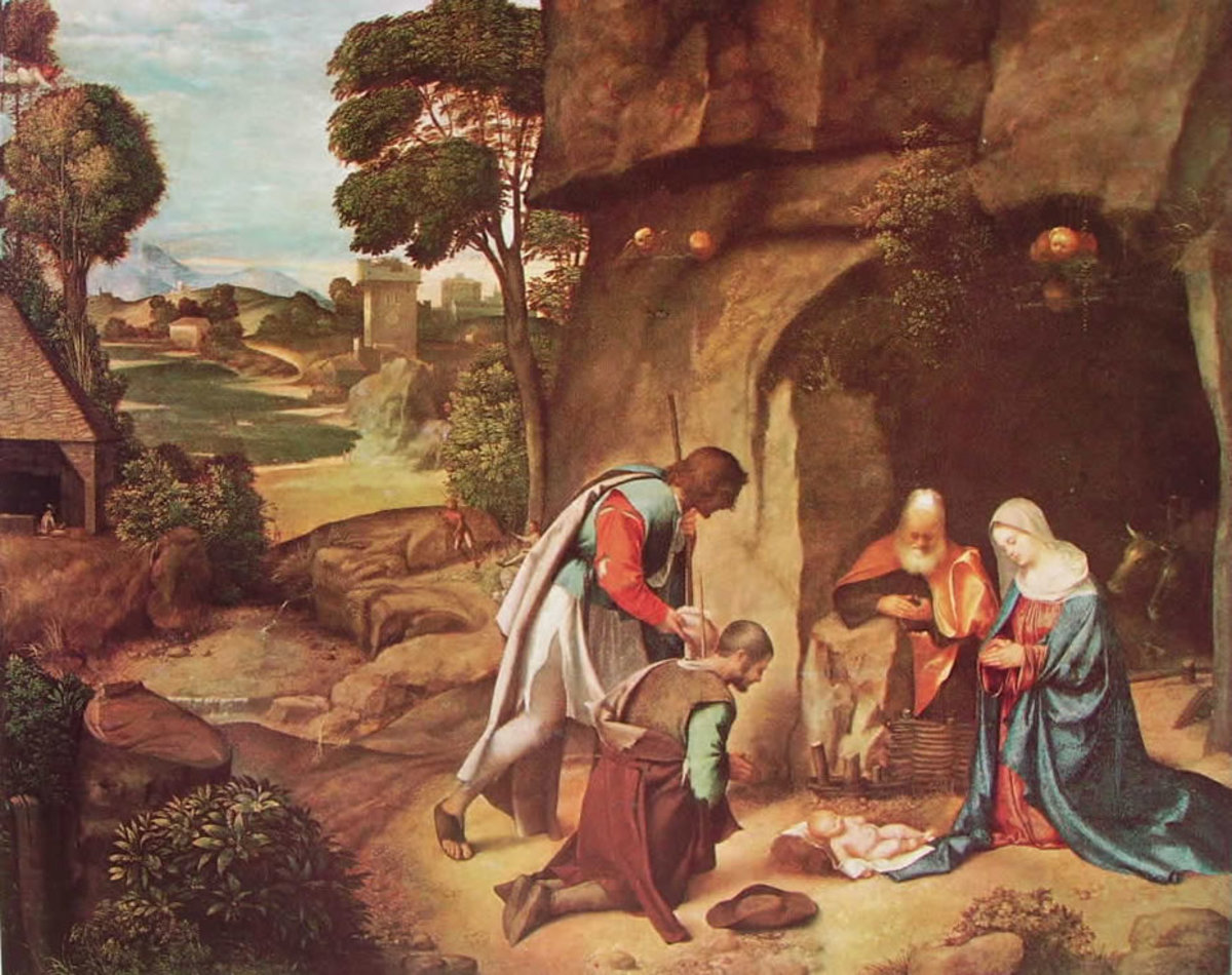 Giorgione, Adoration of the Shepherds or Allendale Nativity (a. 1505), Washington National Gallery